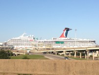 The infamous Carnival Triumph docked in the Mobile Bay.