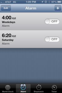 Amazing. No alarm for 5 days.