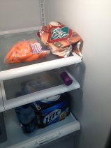 Our pathetic fridge. Taking bets on which item belonged to me... ;-)