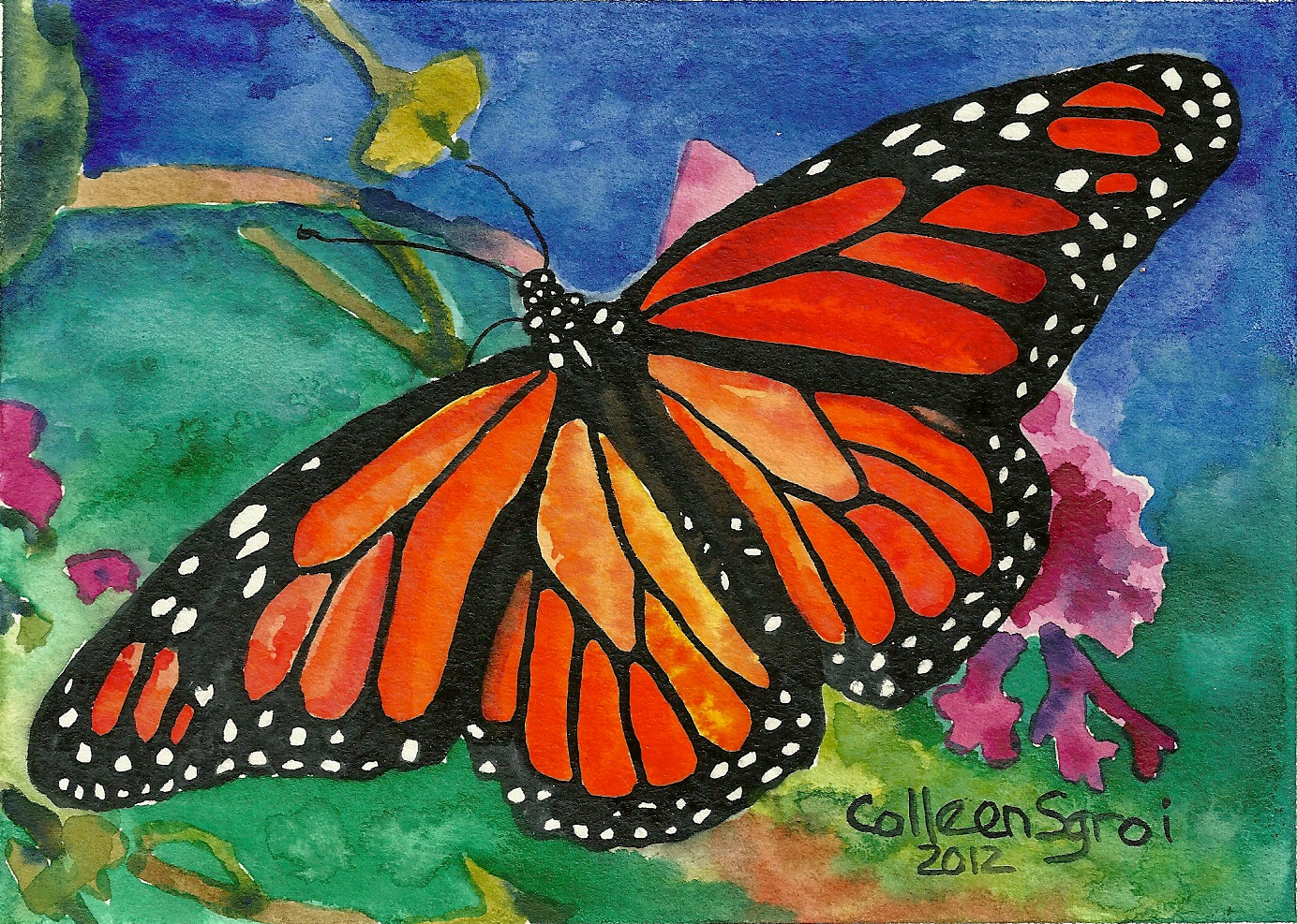 Painting 19 Happiness Butterfly