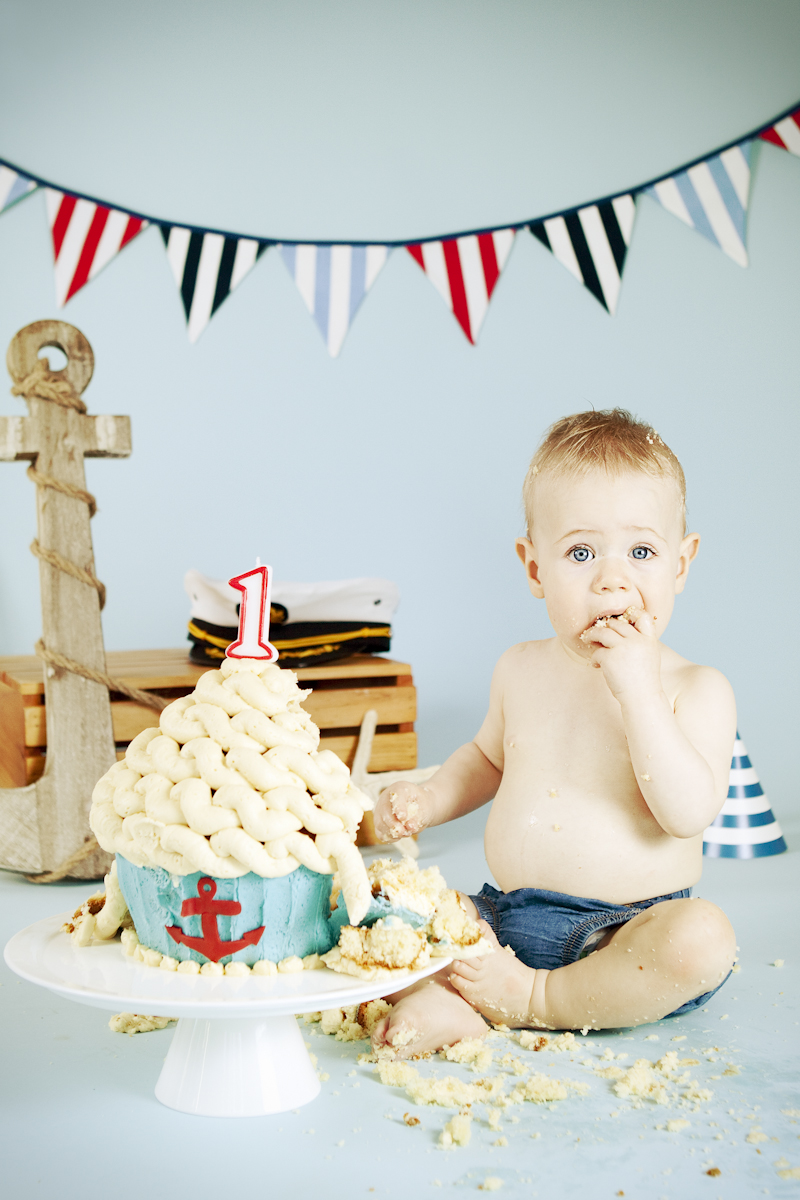 Ari First Birthday Nautical Cake Smash  Csc Photography Blog
