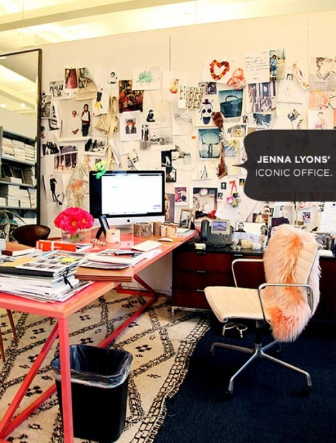 jenna lyons j crew workspace office inspiration