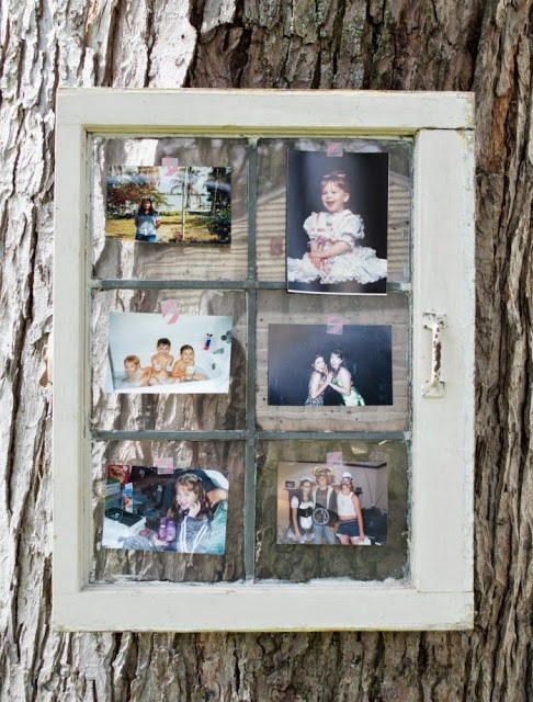bridal shower photo display idea