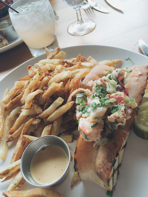 lobster roll and fries the sycamore in columbus ohio