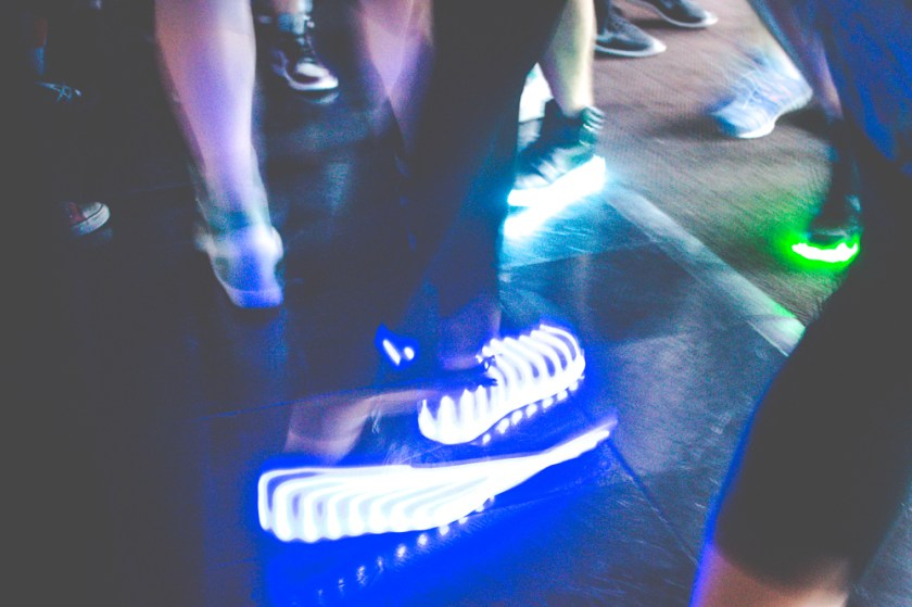 daybreaker LA light up shoes