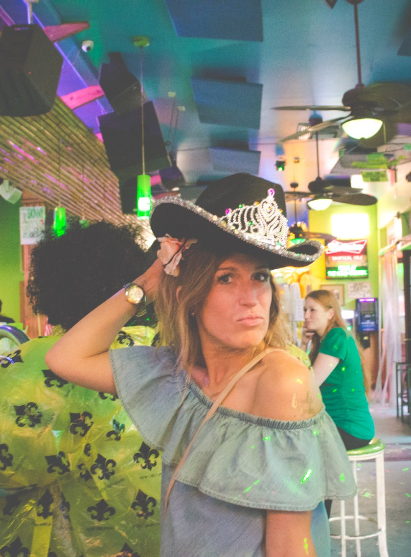Bourbon Street New Orleans Tropical Isle Girl with Cowbody Hat