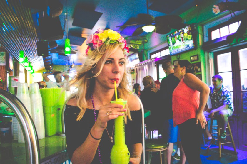 Bourbon Street New Orleans Tropical Isle Girl with Flower Crown