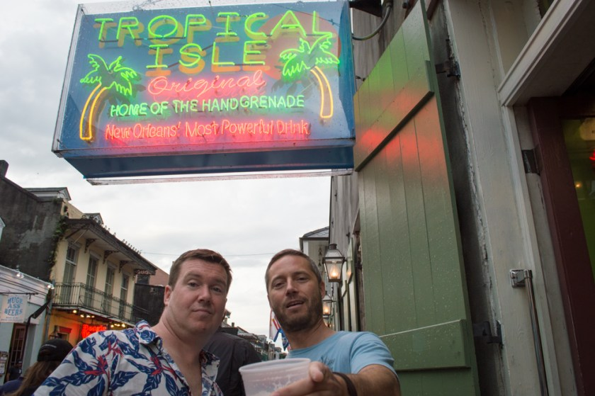 Bourbon Street New Orleans Tropical Isle Neon Sign