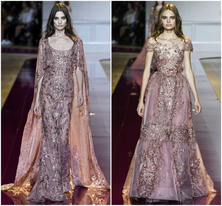 Zuhair Murad Fall 2016 Couture pink wedding dress