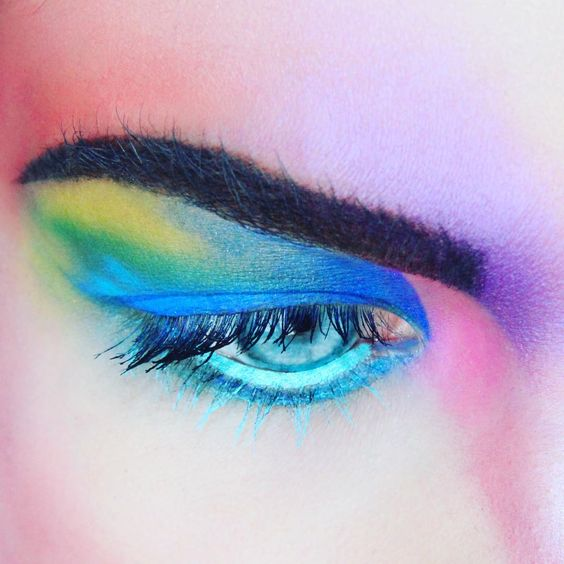 high fashion rainbow eyes