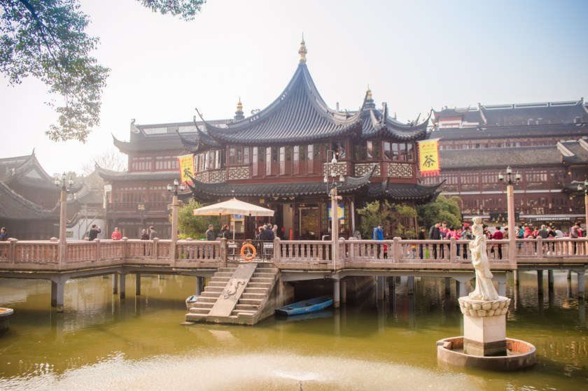 The Huxinting Tea House at the Yuyuan Market in Shanghai, China