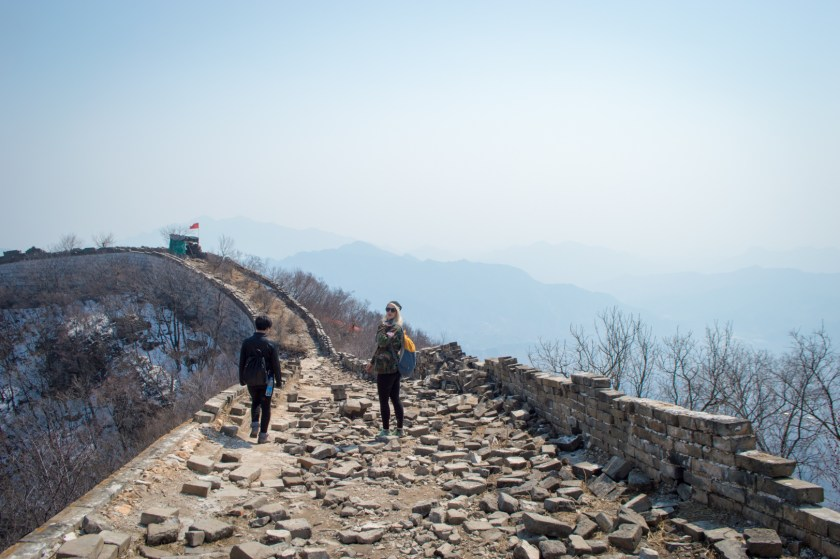 Walking on top of the Great Wall of China | ColleenWelsch.com