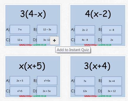 Diagnostic Questions - Algebra