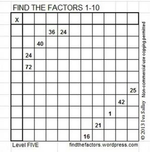 Find the Factors - Iva Sallay