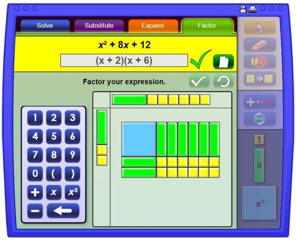 Algebra Tiles Factorisation