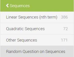 Sequences Index Diagnostic Questions