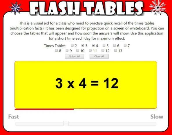 transum-flash-tables