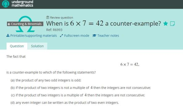 When is 6x7=42 a counter example.