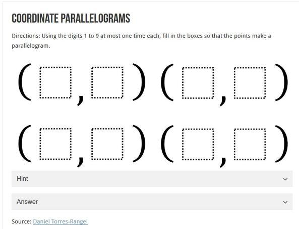 Coordinate Parallelograms