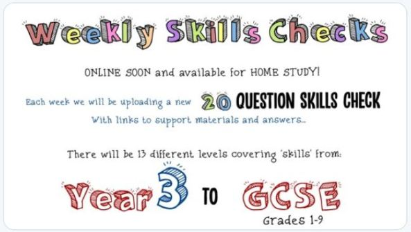 Maths Box Skills Checks