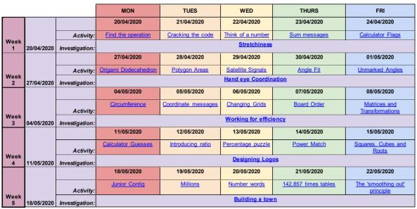 STEM Learning - Maths Calendar