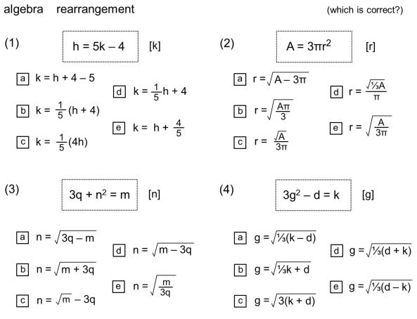 Don Steward algebra rearrangement