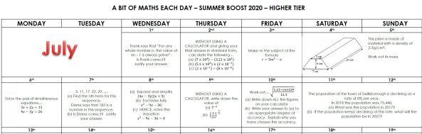 Mr Chadburn Summer Boost Calendars