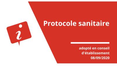 Protocole sanitaire septembre 2020