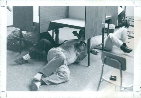 Employees work endlessly to set up classrooms - 1968