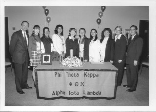 1998 induction ceremony for Phi Theta Kappa Honor Society
