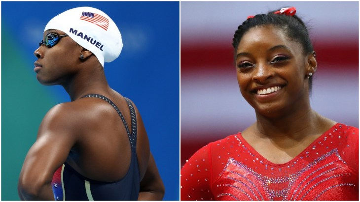 Simone Biles and Simone Manuel