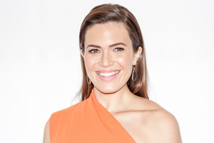 Mandy Moore portrait on a white background