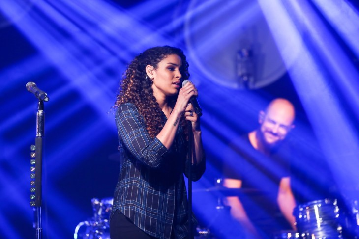 Singer Jordin Sparks performs at the iHeartRadio Album Release Party