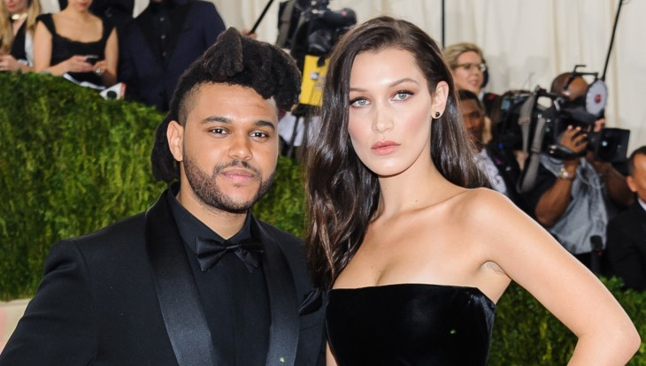 Bella Hadid and The Weeknd at the 2016 Met Gala red carpet together