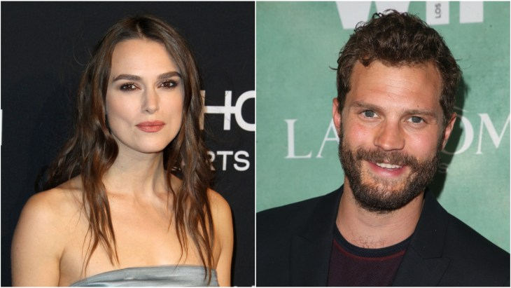 Keira Knightley at the 2018 Elle 25 Years Of Women in Hollywood celebration at the Four Seasons in Beverly Hills and Jamie Dornan at the 2018 annual celebration of the 2018 female Oscar nominees