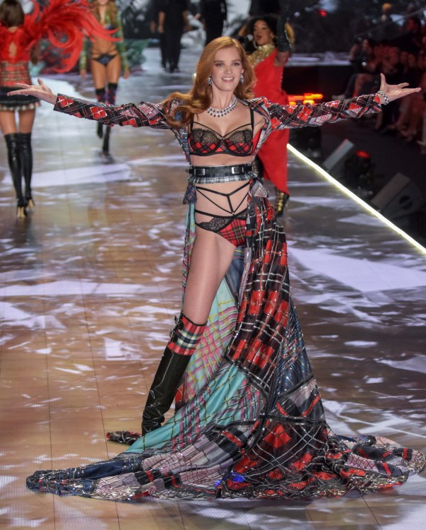 Alexia Graham modeling at the Victorias's Secret Fashion Show 2018