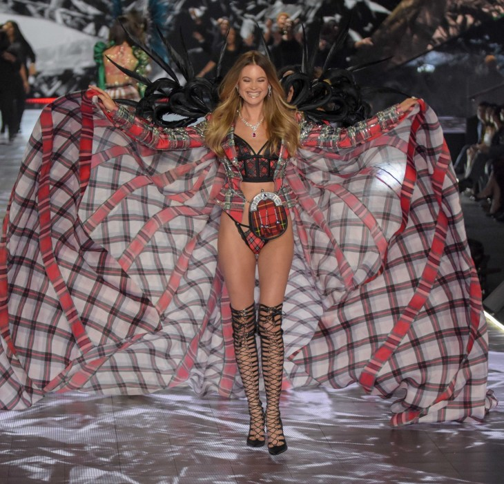 Behati Prinsloo modeling at the Victorias's Secret Fashion Show 2018