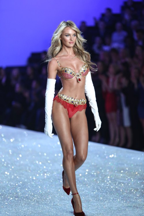 Candice Swanepoel wearing the Fantasy Bra during the 2013 Victoria's Secret Fashion Show