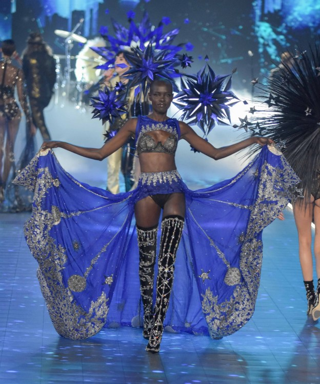 Grace Bol modeling at the Victorias's Secret Fashion Show 2018