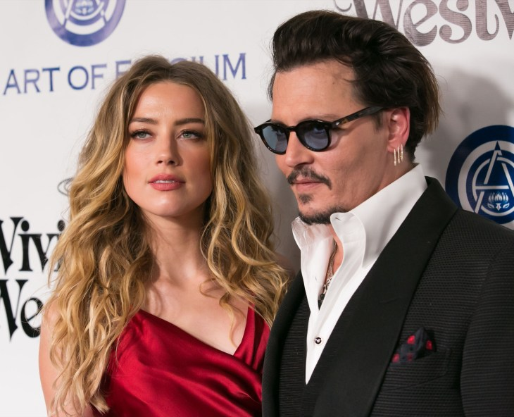 Amber Heard and Johnny Depp at the 2016 Heaven Gala