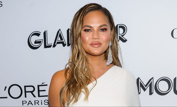 Chrissy Teigen at the 2018 Glamour Women of the Year Awards