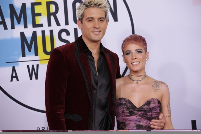 Halsey and boyfriend G-Eazy at the American Music Awards 2018