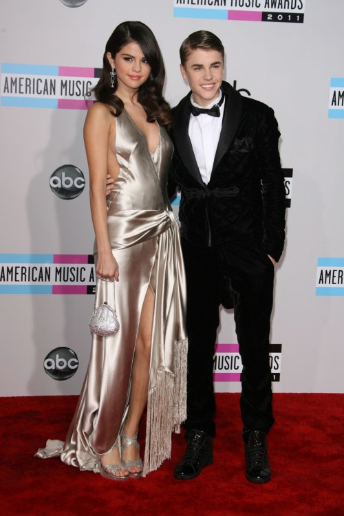 Justin Bieber and girlfriend Selena Gomez at the 2011 American Music Awards