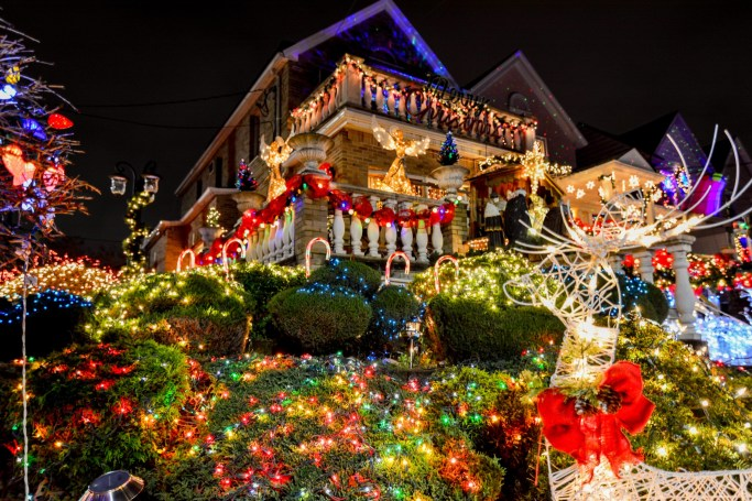 Dyker Heights in South Brooklyn during Christmas