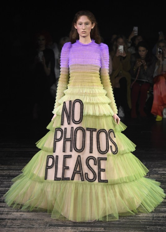 Viktor & Rolf no photos please Couture Dress