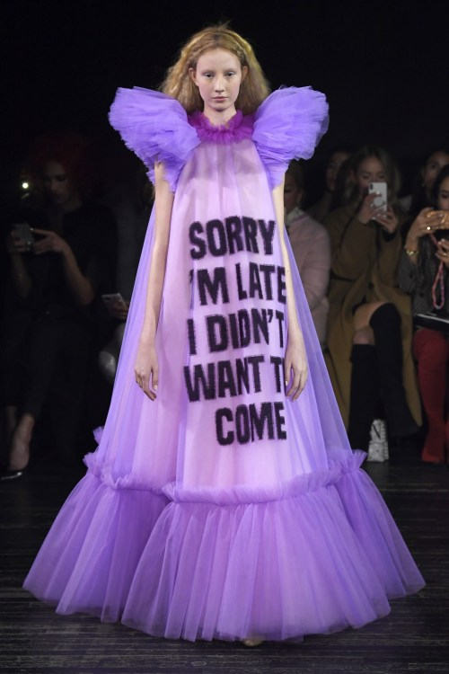 Viktor & Rolf Sorry I'm Late I don't want to be here Couture Dress