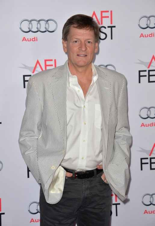 """LOS ANGELES, CA - NOVEMBER 12, 2015: Author Michael Lewis at the world premiere of his movie """"The Big Short"""" at the TCL Chinese Theatre"""