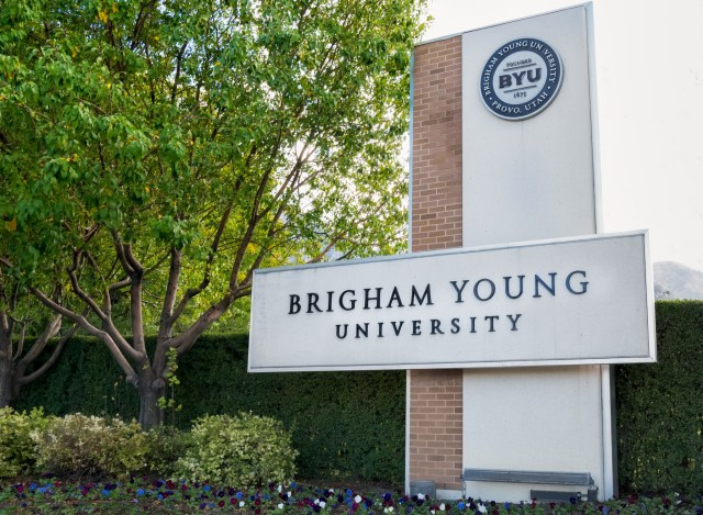 Entrance to Brigham Young University
