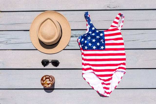 american flag one piece swimsuit