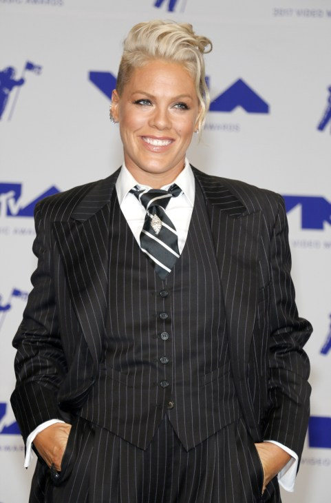 Pink at the 2017 Video Music Awards.